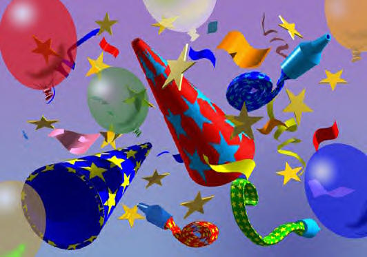 Party Balloons, Hats, Noisemakers